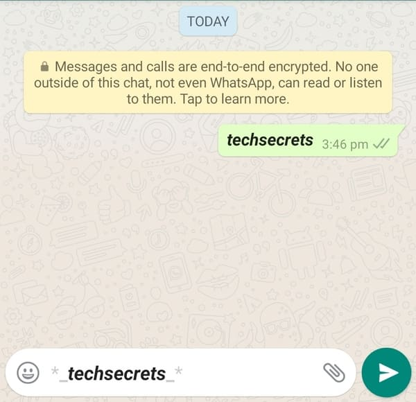How to bold +italic text in WhatsApp