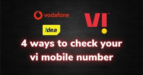 How to check your vi mobile number in simple steps